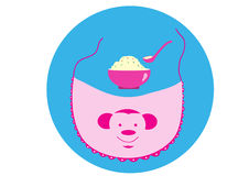 Baby bibs. S on blue backgrounds,baby Stock Photos