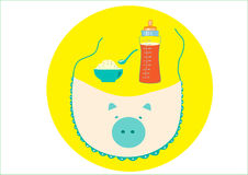 Baby bibs s. On blue backgrounds,baby s Royalty Free Stock Image