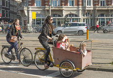 Baby bicycle carriages Stock Images
