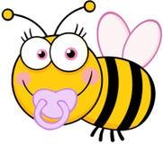 Baby-Bienen-Zeichentrickfilm-Figur Stockfotos