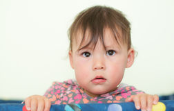 Baby with Big Cute Eyes Stock Images