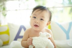Baby with a big and cute smile Royalty Free Stock Photo
