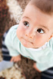 Baby with big eyes Royalty Free Stock Image