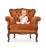 Baby with big lollipop Royalty Free Stock Photos
