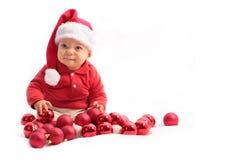 Baby bij Kerstmis royalty-vrije stock fotografie