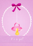 Baby birth announcement. Funny illustration of birth announcement Royalty Free Stock Photography