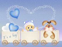 Baby birth announcement. Illustration of baby birth announcement Royalty Free Stock Photo