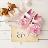 Baby birth background Stock Images