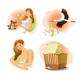 Baby Birth Set Stock Photography