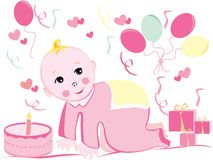 Baby birthday  Royalty Free Stock Photo