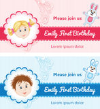 Birthday Cards for baby Stock Images