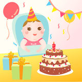 Baby birthday celebration Stock Image