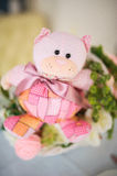 Baby birthday decor or baby shower decor pink bear Royalty Free Stock Images