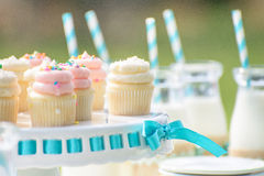 Baby birthday decoration Stock Photography