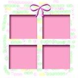 Baby birthday frame Stock Image