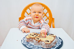 Baby birthday Royalty Free Stock Photography