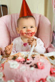 Baby  birthday Stock Photography