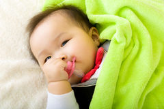 Baby bite pacifier Stock Images
