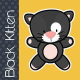 Baby black cat Royalty Free Stock Photography