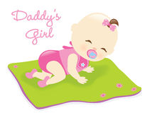 Baby on blanket Royalty Free Stock Images