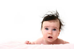 Baby on blanket Stock Images