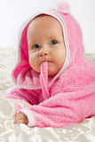 Baby on blanket Royalty Free Stock Photo