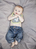 Baby on blanket Royalty Free Stock Photos