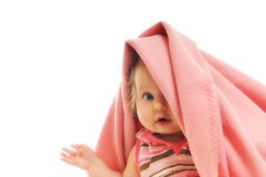 Baby blanket isolated Stock Photos