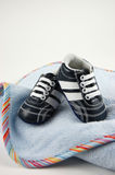 Baby Blanket and Shoes Royalty Free Stock Image