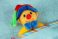 Baby Blanket and Toy Royalty Free Stock Images