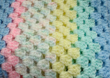 Baby Blanket Up Close. An up close view of a baby blanket royalty free stock image