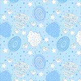 Baby blauw zoet katoenen abstract patroon Stock Afbeelding