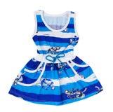 Baby blauwe kleding Royalty-vrije Stock Foto