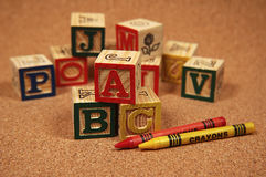 Baby Block Stock Photo