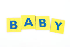 Baby in Block Letters. Word baby spelled out in block letters royalty free stock images