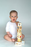 Baby Blocks. Image of cute baby playing with alphabet blocks Stock Photography