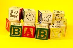 Baby Blocks 3. Wooden Baby Blocks stock images