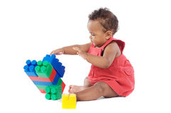 Baby with blocks Royalty Free Stock Images