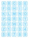 Baby blocks alphabet Royalty Free Stock Photography