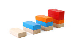 Baby blocks figure - chart. See portfolio for more block figures royalty free stock image