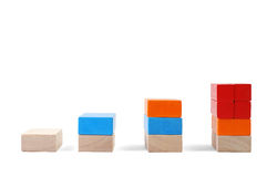 Baby blocks figure - chart. See portfolio for more block figures royalty free stock photography