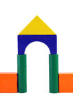 Baby blocks figure - Gate. See portfolio for more block figures royalty free stock image