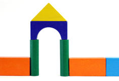 Baby blocks figure - Gate. See portfolio for more block figures royalty free stock photography