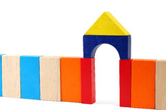 Baby blocks figure - Gate. See portfolio for more block figures royalty free stock images
