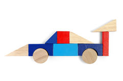 Baby blocks figure - race car. Baby blocks figure - sport car. See portfolio for more block figures stock images