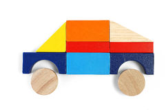 Baby blocks figure - SUV. See portfolio for more block figures stock photos