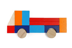Baby blocks figure - truck. See portfolio for more block figures stock image