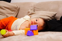 Baby and blocks Royalty Free Stock Photo