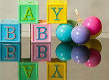 Baby in Blocks Royalty Free Stock Photos