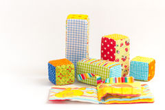 Baby blocks toy Royalty Free Stock Images